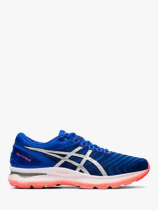 ASICS GEL-NIMBUS 22 Men's Running Shoes, Tuna Blue/Pure Silver