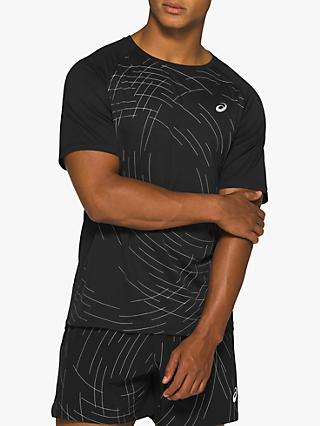 ASICS Night Track Short Sleeve Running Top, Black
