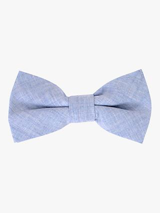 John Lewis & Partners Boys' Chambray Bow Tie, Blue