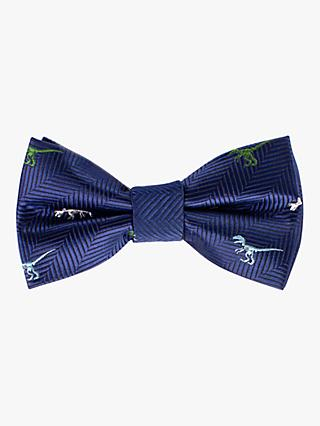 John Lewis & Partners Heirloom Collection Boys' Dinosaur Bow Tie, Navy