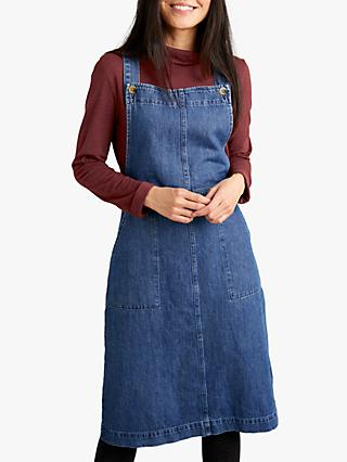 Seasalt Scots Pine Pinafore Dress, Mid Indigo
