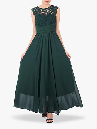 Jolie Moi Cap Sleeve Flared Maxi Dress