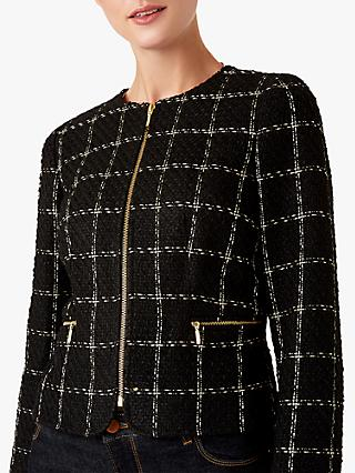 Hobbs Ashley Tweed Jacket, Black/Gold