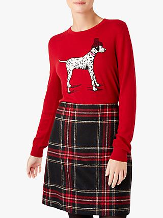 Hobbs Riley Dalmatian Dog Sweater, Red
