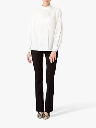 Hobbs Naomi Pleat Blouse, Ivory