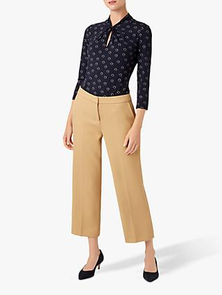 Hobbs Long Sleeve Amber Top, Navy/Black