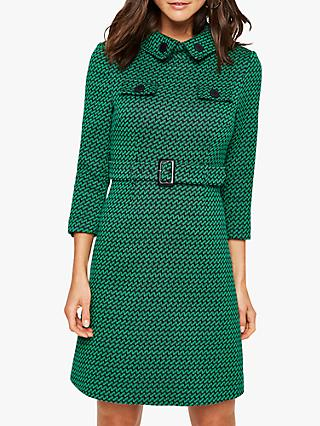 Damsel in a Dress Sabri Tweed Dress, Green/Navy