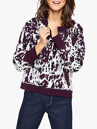 Damsel in a Dress Rena Animal Print Jacquard Jumper, Multi