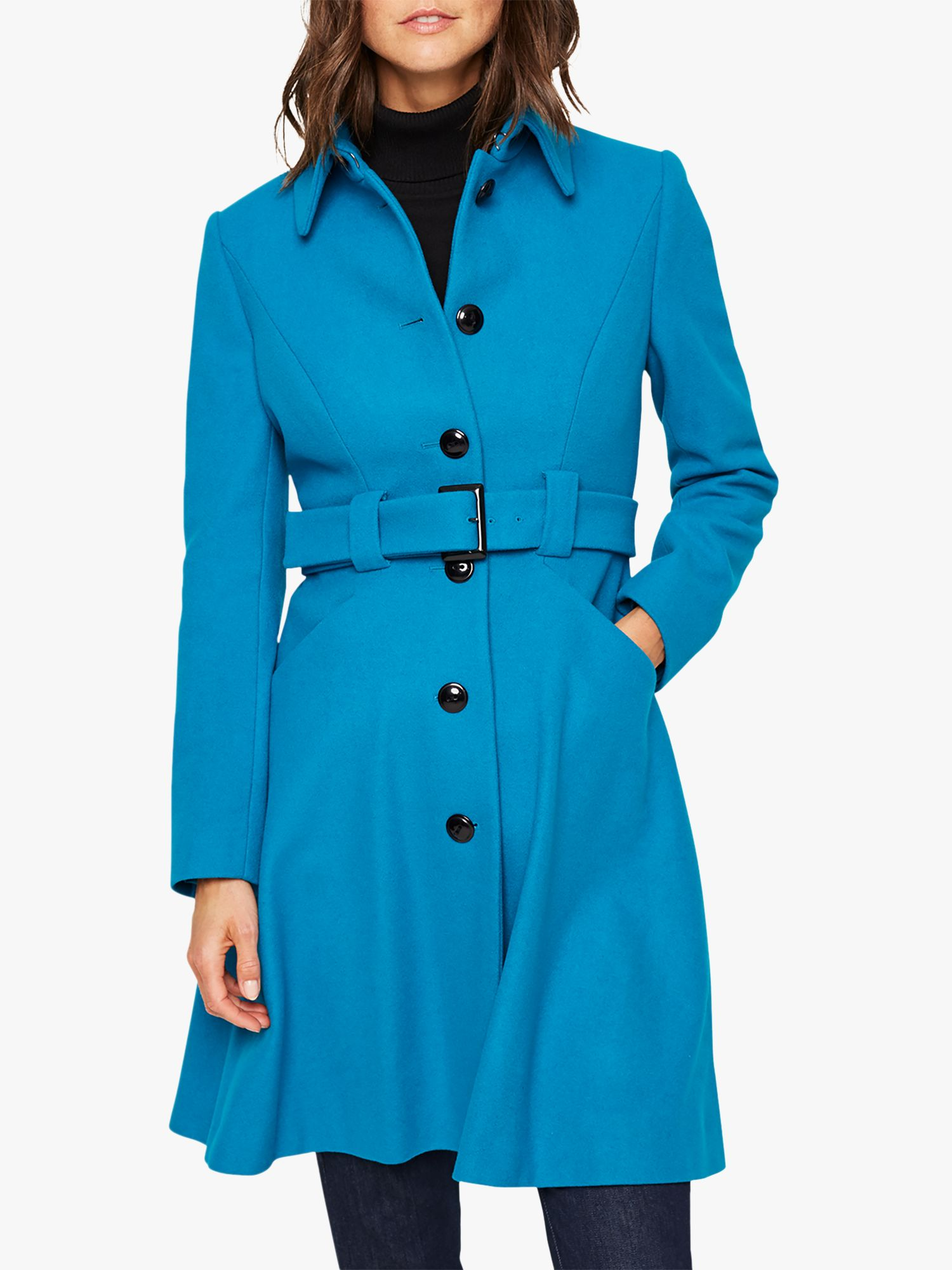 Damsel in a dress Damsel in a Dress Reeba Wool Blend Coat, Teal