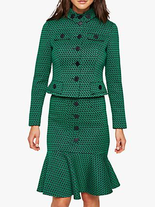 Damsel in a Dress Sabri Tweed Jacket, Green/Navy