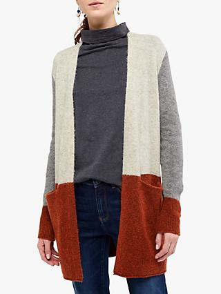 White Stuff Cosy Colourblock Cardigan, Multi