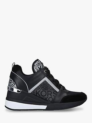 MICHAEL Michael Kors Georgie Chunky Trainers, Black/Silver