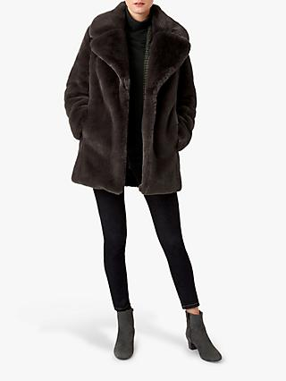 Hobbs Bethany Faux Fur Coat