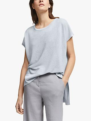 Modern Rarity Rib Knit T-Shirt, Blue