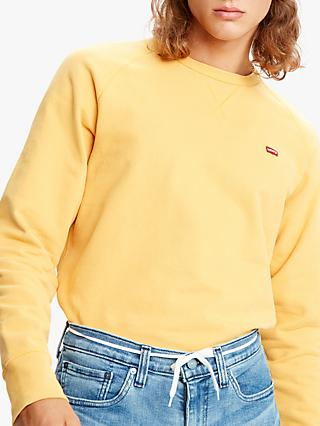 Levi's Original Icon Crew Neck Sweatshirt, Golden Apricot