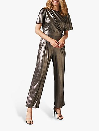 Phase Eight Gabriella Shimmer Jumpsuit, Gold