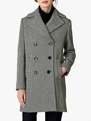 Jaeger Herringbone Coat, Black