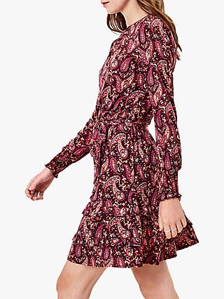 Oasis Paisley Print Skater Dress, Multi