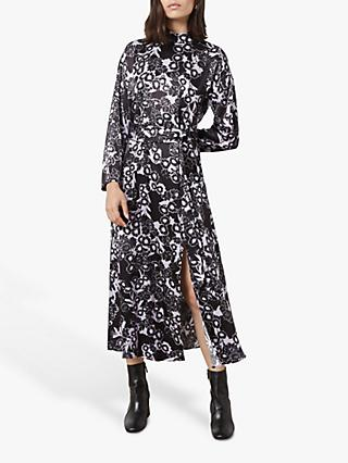 Finery Lyndon Night Bloom Dress, Black/Multi