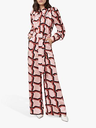 Finery Richmond Deco Print Jumpsuit, Pink