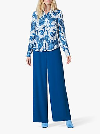 Finery Ludlow Dotted Floral Print Blouse, Blue