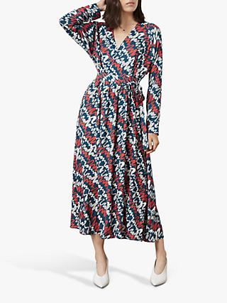 Finery Morgan Ripple Print Wrap Dress, Multi