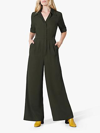 Finery June Wide Leg Jumpsuit, Khaki