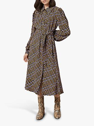 Finery Leia Ripple Check Dress, Multi