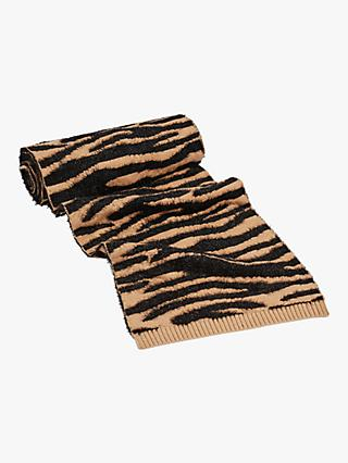 Oasis Teddy Tiger Print Scarf, Animal
