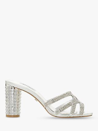 Dune Marida Diamante Embellished High Block Heel Sandals