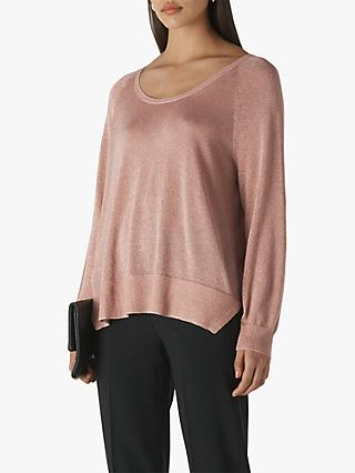 Whistles Sparkle Scoop Neck Knit