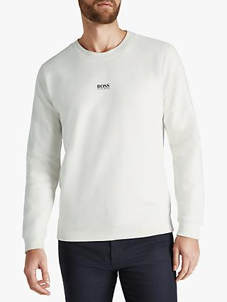 BOSS Weevo Relaxed Fit Logo Sweatshirt, Natural
