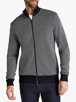 BOSS Shepherd Funnel Neck Zip Through Sweatshirt, Black