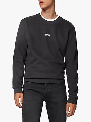 BOSS Weevo Relaxed Fit Logo Sweatshirt