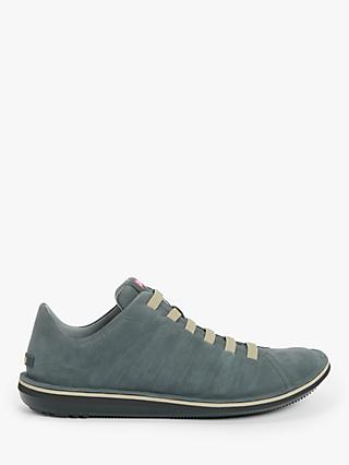 Camper Beetle Nubuck Trainers, Dark Grey