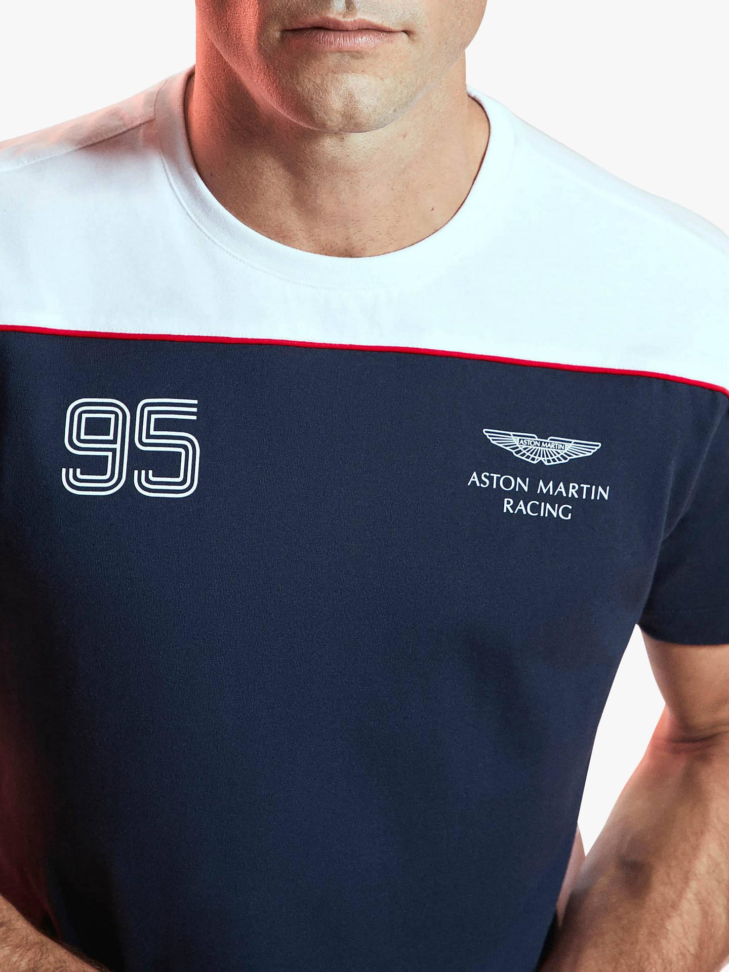 Hackett London Aston Martin Racing Logo T Shirt Navy White At John Lewis Partners