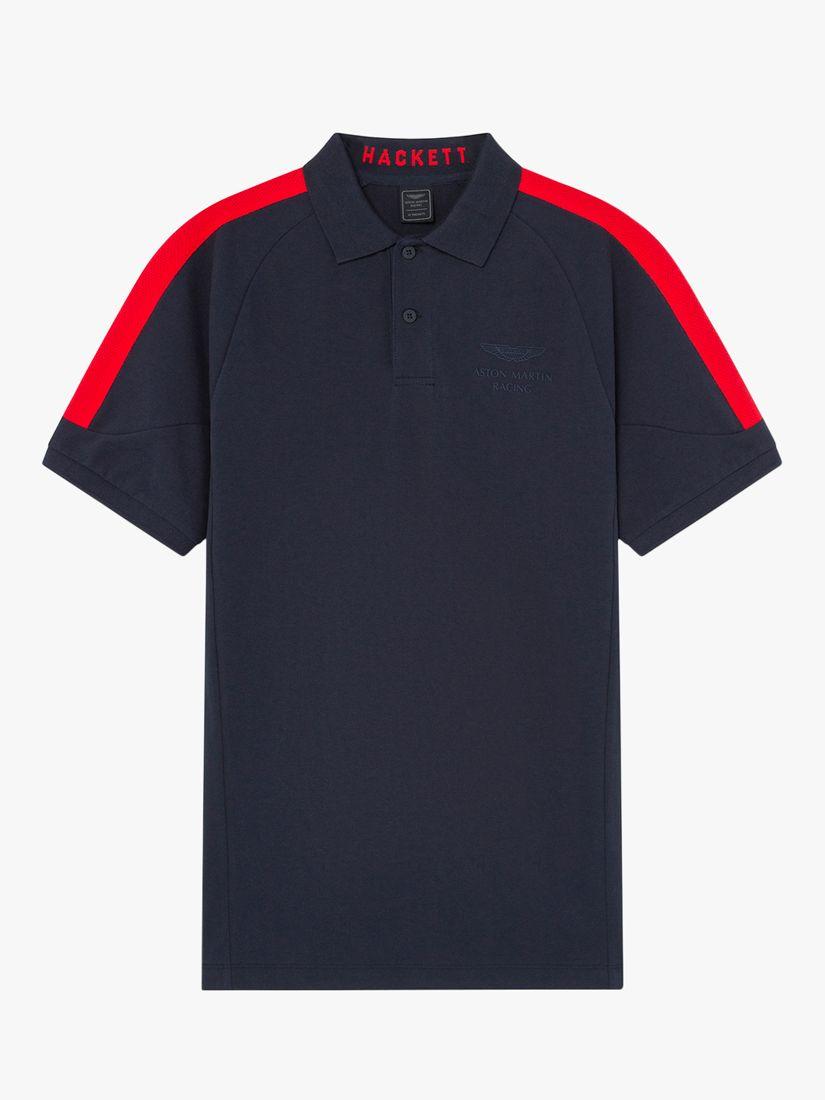 Hackett London Hackett London Aston Martin Racing Short Sleeve Polo Shirt, Navy