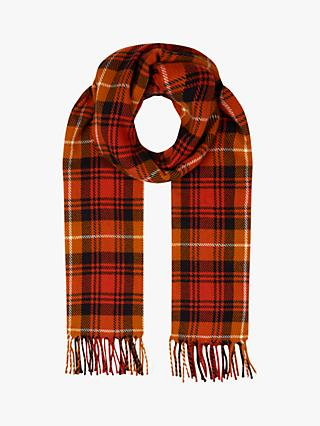 Hobbs Kaylee Check Scarf, Orange
