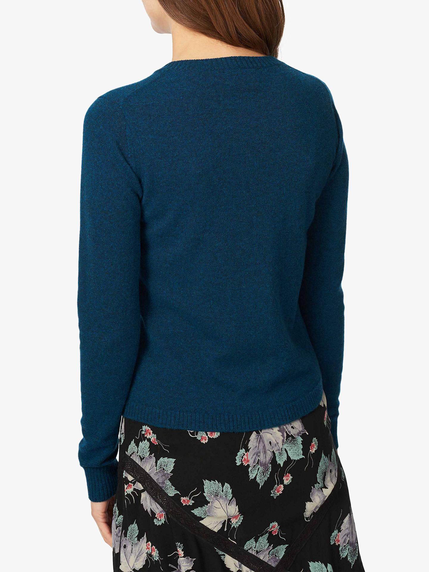 Brora Cashmere Velvet Detail Cardigan at John Lewis & Partners
