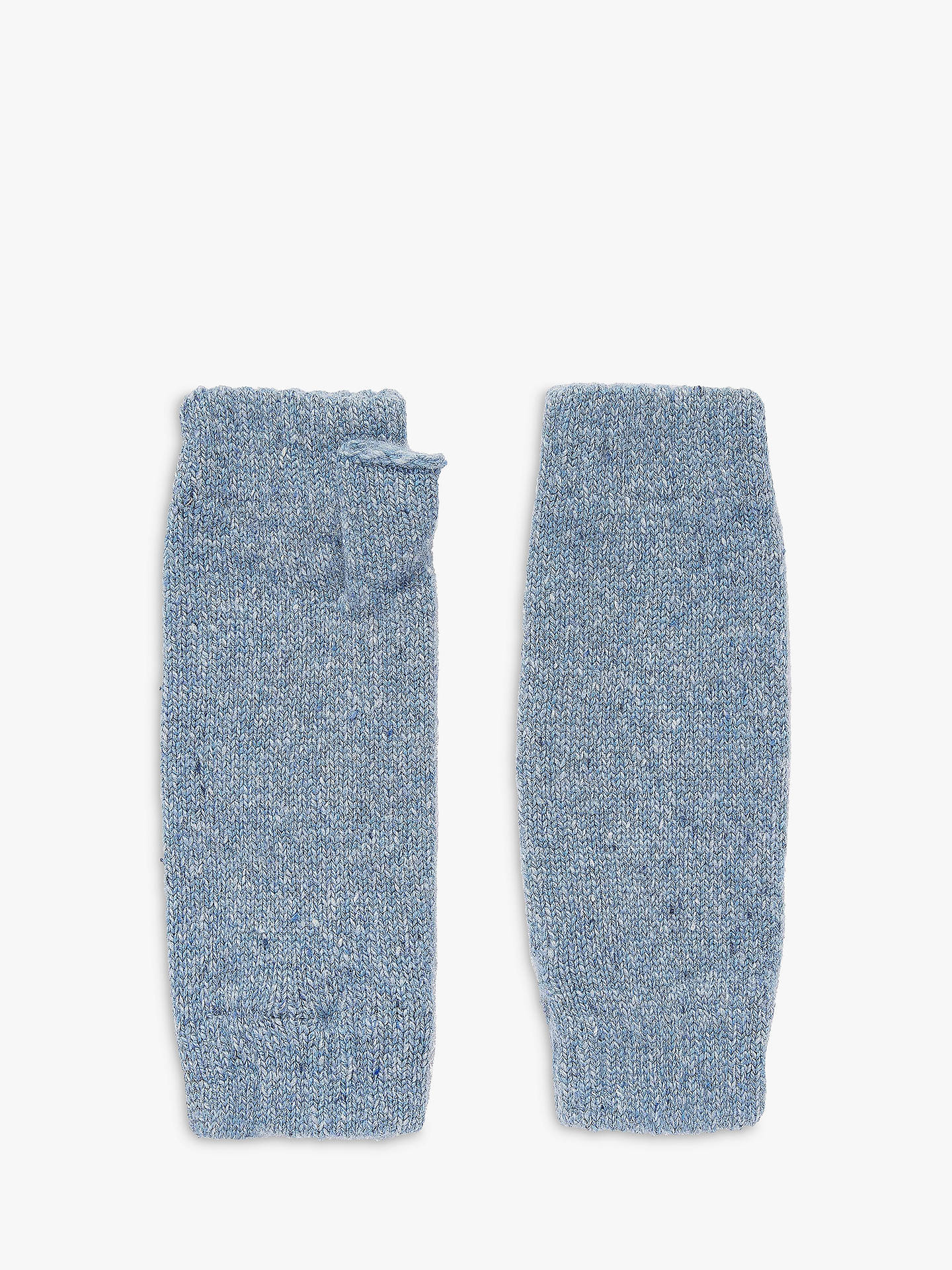 Buy Brora Donegal Cashmere Wristwarmers, Ice Blue Online at johnlewis.com