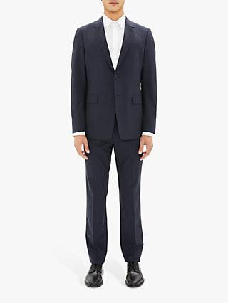 Theory Stretch Wool Tailored Suit Jacket, Navy