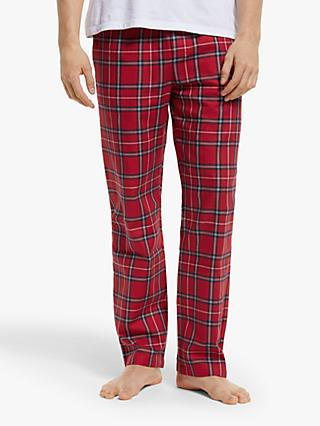 Tommy Hilfiger Check Flannel Pyjama Trousers, Tango Red