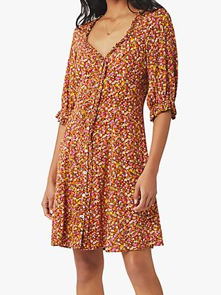 Ghost Ariella Floral Mini Dress, Mixed Daisies