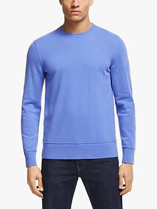 Theory Hilles Cashmere Crew Neck Jumper, Blue