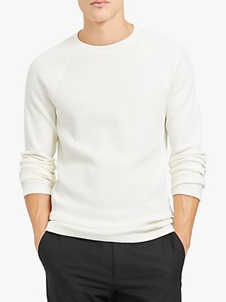 Theory River Waffle Knit Jumper, Ivory