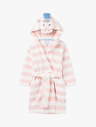 Little Joule Girls' Giddy Horse Dressing Gown, Pink/White