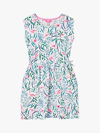 Little Joule Girls' Jude Flamingo Jersey Dress, Multi