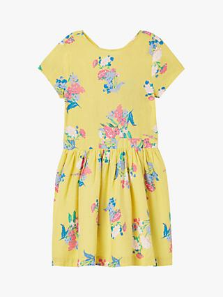 Little Joule Girls' Floral Teaparty Dress, Yellow