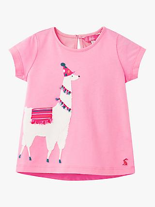Little Joule Girls' Maggie Unicorn Applique Top, Pink
