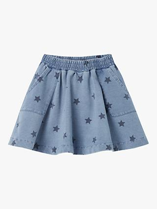 Little Joule Girls' Spin Star Skirt, Blue